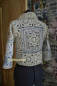Crochet Patterns Jacket Crochet jacket: pattern by Samela Crochet Bolero, Crochet Jacket Pattern, Gilet Crochet, Crochet Coat, Crochet Cardigan, Crochet Clothes, Crochet Patterns, Crochet Sweaters, Knitting Patterns