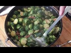 "First: did you know it's spelled ""Brussels?"" I have misspelling this vegetable forever! Also, these brussels sprouts are fre. Meals Under 500 Calories, Sprouts Recipe, Brussels Sprouts, One Pot Meals, Shrimp Recipes, Ground Beef, Nom Nom, Bacon, Make It Yourself"