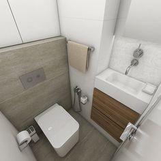 Závěsná toaleta (Zaha, cena 6366 Kč) umožňuje snadný úklid. Je zde bidetová sprška (set 3041 Kč), doplňky z kolekce Kibo: dávkovač mýdla (693 Kč), WC kartáč (1213 Kč), držák ručníku (779 Kč)a háčky (Unix, 59 Kč za kus); Perfecto design