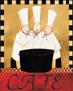 Three Chefs Soup Bistro II Posters by Dan Dipaolo at AllPosters.com