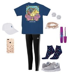 """yay or nay to the socks?"" by megnog-the-prepster123 on Polyvore featuring polyvore fashion style adidas Happy Socks NIKE Effy Jewelry Marjana von Berlepsch Kate Spade Polo Ralph Lauren Maybelline clothing"
