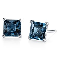 MSRP: $499.99  Our Price: $299.99  Savings: $200.00        Item Number:E18508-E18978    Availability: Usually Ships in 5 Business Days        PRODUCT DESCRIPTION:    These beautiful earrings for her feature Princess Cut Genuine London Blue Topaz Gemstones with a Caribbean Blue Hue with Brilliant Sparkle in 14k Gold and are essential for any girl's jewelry collection. These gorgeous studs are fashioned into sleek white or yellow gold four-pronged settings. The Fit is secure and comfortable…