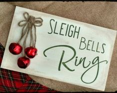 Sleigh Bells Ring Sign Christmas Sign Christmas by MyBoardBoutique signs Items similar to Sleigh Bells Ring Sign, Christmas Sign, Christmas Decor, Holiday Sign, Holiday Decor on Etsy Christmas Wood Crafts, Christmas Signs Wood, Holiday Signs, Christmas Ornaments To Make, Rustic Christmas, Christmas Art, Christmas Projects, Holiday Crafts, Christmas Holidays