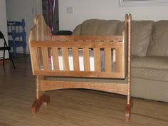 Baby Craddle, made from Black Cherry, for our first grandchild.