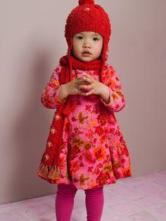 Oilily Dorine Pink Oakleaf Romantic Dress - BABY