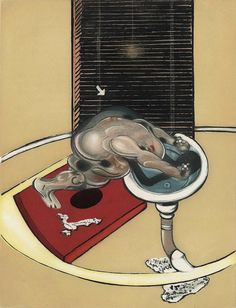 Francis Bacon, Figure standing at a washbasin, 1976