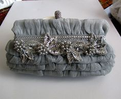 Unique & Glamour Bridal Victorian French couture, evening bag,clutch,purse, bridesmaid clutch, Bridal clutch bridal clutch - Bijoux and Couture