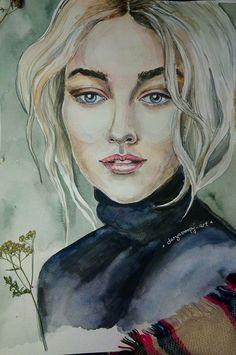 #daryasnoopy_art #art #artist #watercolor #drawing #painting #portrait