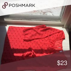 Blouse Red blouse with maroon circle pattern Old Navy Tops Blouses