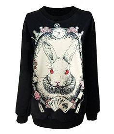Taiycyxgan Gothic Clothing Sweatshirts Alice in Wonderland Costume Rabbit Sweater for Women TAIYCYXGAN http://www.amazon.com/dp/B00P0DXU9U/ref=cm_sw_r_pi_dp_-fqbvb1FZK6HG