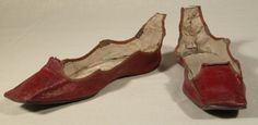 Early 19th century shoe.  Looks pretty strange without the laces!  Snowshill Manor © National Trust / Richard Blakey