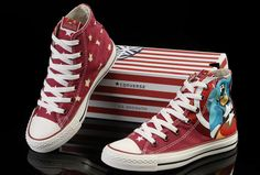 Limited Edition Captain America Converse Red High Tops Canvas Shoes [SP061002]