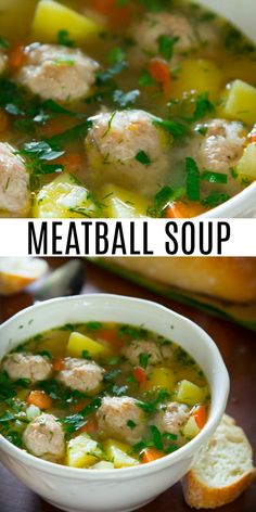 Chicken Mami Recipe, Chicken Soup Recipes, Healthy Soup Recipes, Cooking Recipes, Healthy Food, Chicken Meatball Soup, Chicken Meatballs, Dr Gundry Recipes, Healthy Meatballs