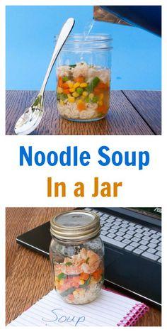 instant noodle soup in a jar