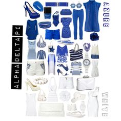 ADPi Colors, created by deltagammacj on Polyvore