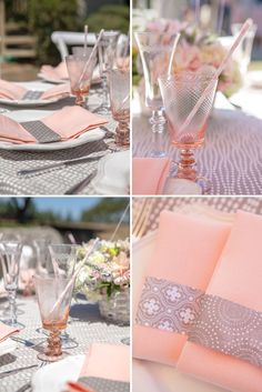 Love this color scheme & these gorgeous goblets~ {beautiful Maiden Voyage themed baby shower}