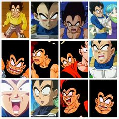 The many funny faces of vegeta - Visit now for 3D Dragon Ball Z compression shirts now on sale! #dragonball #dbz #dragonballsuper