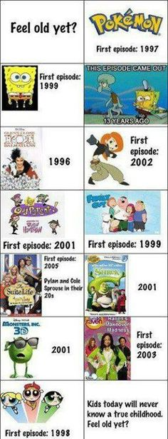 Yes I feel old