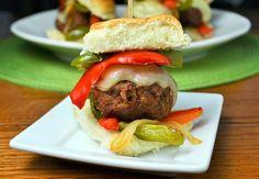Philly meatball sliders #GrillTalk #FWCon