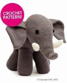 2000 Patrones Gratis Amigurumi: Modelo gratuito Elefante ganchillo