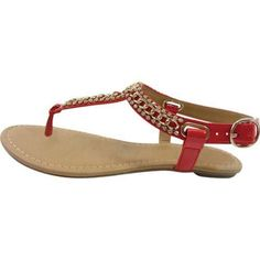 Women's Beston Soro-S Thong Sandal Patent Faux Leather
