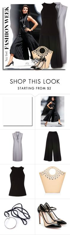 """What to Wear to NYFW"" by breathing-style ❤ liked on Polyvore featuring Harris Wharf London, Raoul, Elizabeth and James, Hermès and Salvatore Ferragamo"