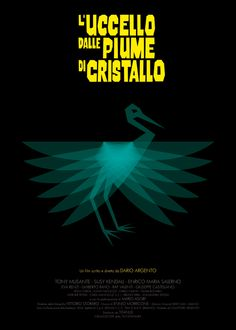 L'uccello dalle piume di cristallo (The Bird with the Crystal Plumage) (1970) ~ Minimal Movie Poster by Federico Mancosu ~ Italian Movies Series #amusementphile