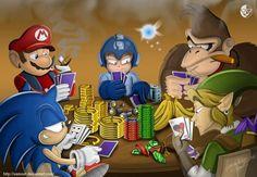 Uma partida de poker