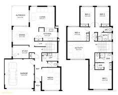 Two Storey House Floor Plan with Perspective . Two Storey House Floor Plan with Perspective . 2 Storey House Floor Plan with Perspective — Modern House Plan 4 Bedroom House Designs, 4 Bedroom House Plans, Basement House Plans, Beach House Plans, Open Floor House Plans, Farmhouse Floor Plans, Modern House Plans, Farm Plans, Modern House Design