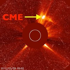www.thesuntoday.org - Today's M6 flare had an associated CME. Here is an image of the CME from the SOHO/LASCO C2 coronagraph (a coronagraph creates an artificial eclipse blocking out the solar disk allowing us to see the much fainter outer corona including CMEs moving away from the Sun). The image is still riddled with speckles and streaks from the ongoing particle storm (this storm is from the earlier X5 and X1 associated eruptions). We are waiting for more analysis on the new eruption and…