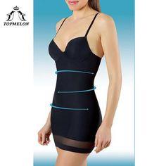ecda099c7f501 Topmelon Women Slimming Underwear Control Slips Sexy Push Up Dress Body  Shaper Shapewear Spaghetti Strap Waist Trainer Lingerie