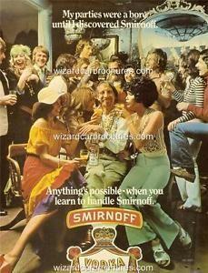1970 - 73 SMIRNOFF VODKA AUSTRALIA A3 POSTER AD ADVERT ... Vodka, Poster Ads, Movie Posters, Vintage Auto, Smirnoff, I Party, A3, Coca Cola, Australia