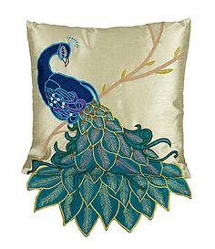 I LOVE THIS!!!!!! THRO by Marlo Lorenz Clara Fancy Peacock Decorative Pillow #Dillards