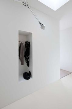 Hall storage nook.