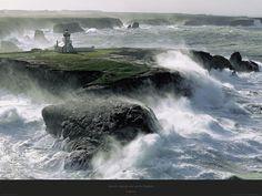 Poster photo Bretagne Avis de coup de vent sur les Poulains - Belle-ile - Morbihan - Philip Plisson