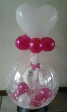 Kado in ballon met hart