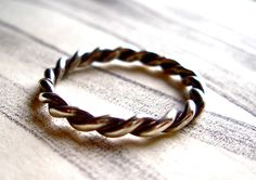 Simple Twist Ring: Large – Tarnished & True