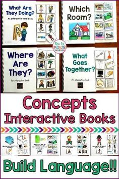 Just the set of interactive books that you need to practice basic language concepts with your special education students! As a bonus, these adapted books also help improve attention to task and participation because they are fun and hands on!! This is a wonderful set for self-contained classes, speech therapy, life skills programs, and students with autism.
