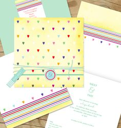 For the sweet spring affair - 'Heart to Heart' Lilykiss wedding invitation