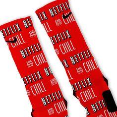 Netflix And Chill Custom Nike Elite Socks
