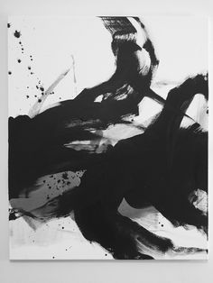 Abstract black&white painting