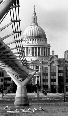 Boating past St. Paul's Cathedral Art Print by Niki Gorick at King & McGaw