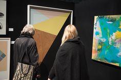 Admiring an artwork by Adam James Adam James, Nz Art, Album, Artwork, Work Of Art