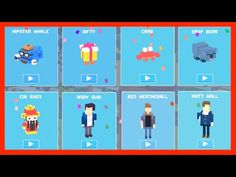 Unlock ☆ Original 8 ☆ Mystery Characters Crossy Road. From ✿ Hipster Whale ✿ to ☆ Cai Shen ☆ - YouTube