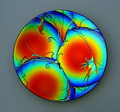 fused glass plate - how stunning is this.