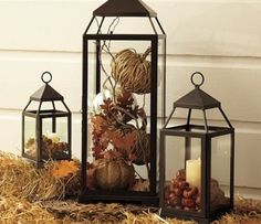 Just bought a lantern and wondered how to decorate inside it.  This looks easy enough.