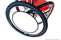 Reciclado montaña bicicleta rueda espejo por bikefurniture en Etsy