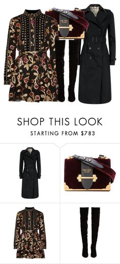 """""""Untitled #5209"""" by beatrizvilar on Polyvore featuring Burberry, Prada, Dodo Bar Or and Christian Louboutin"""
