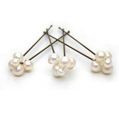 Freshwater pearl wedding hairpins