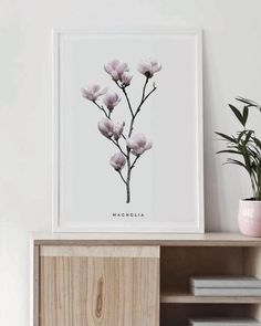 Magnolia - Poster - Real Time - Diet, Exercise, Fitness, Finance You for Healthy articles ideas Wall Art Decor, Room Decor, Botanical Wall Art, Poster Making, Home Gifts, Printable Wall Art, Fine Art Paper, Magnolia, Wall Art Prints